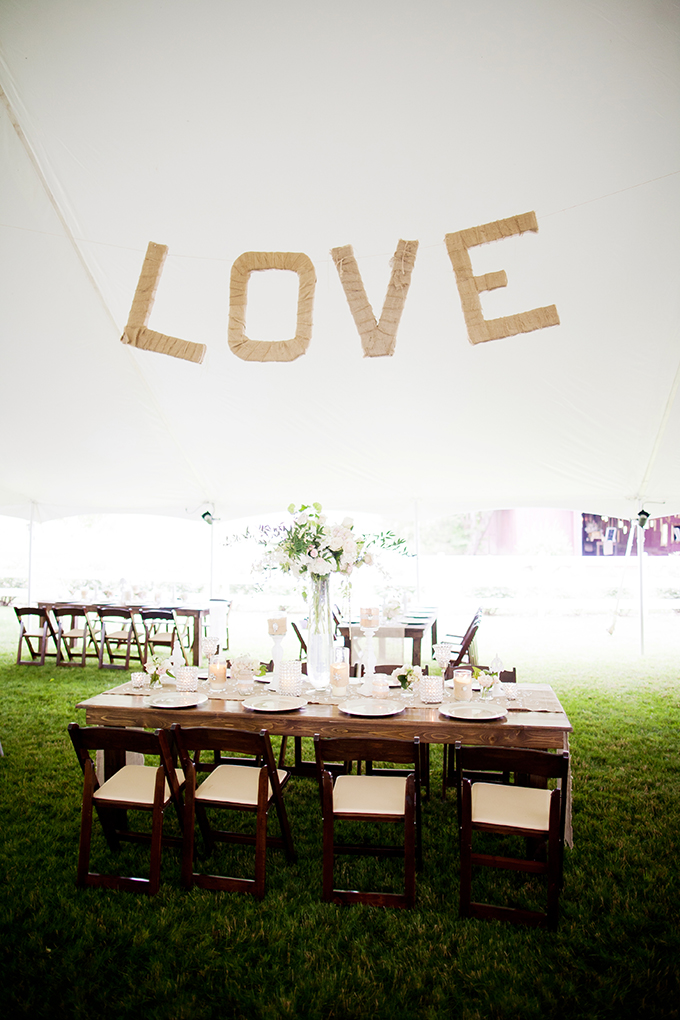 twine LOVE sign | JEN & CHRIS CREED | Glamour & Grace
