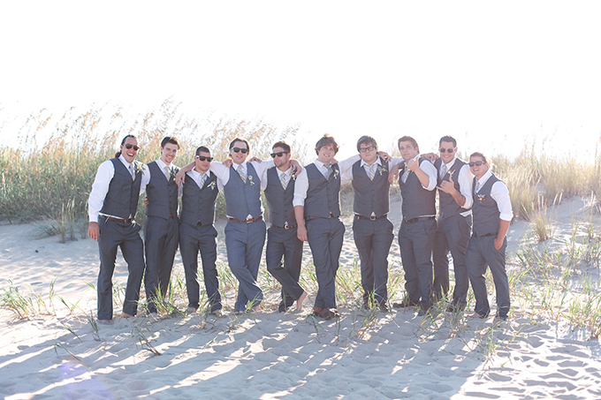 beach wedding groomsmen | Kacie Lynch Photography | Glamour & Grace