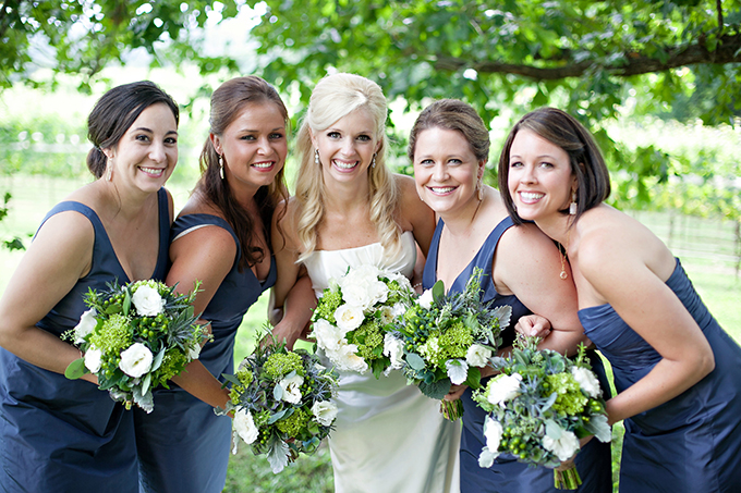 blue bridesmaids | Paperlily Photography | Glamour & Grace
