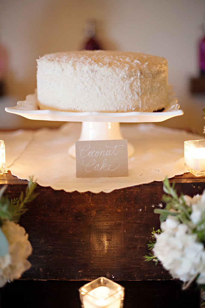 coconut cake | Paperlily Photography | Glamour & Grace
