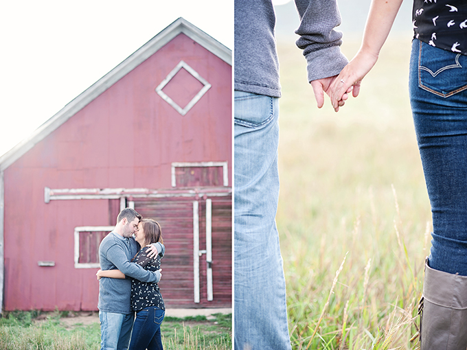 red barn engagement session | Elizabeth Ann Photography | Glamour & Grace