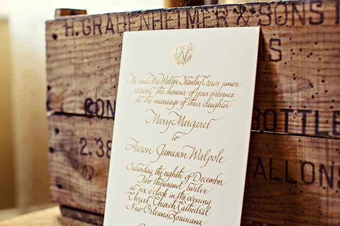 gold foil invitation | Mark Eric Photography | Glamour & Grace