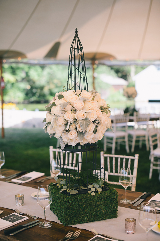 garden wedding centerpieces | Katie Slater Photography | Glamour & Grace