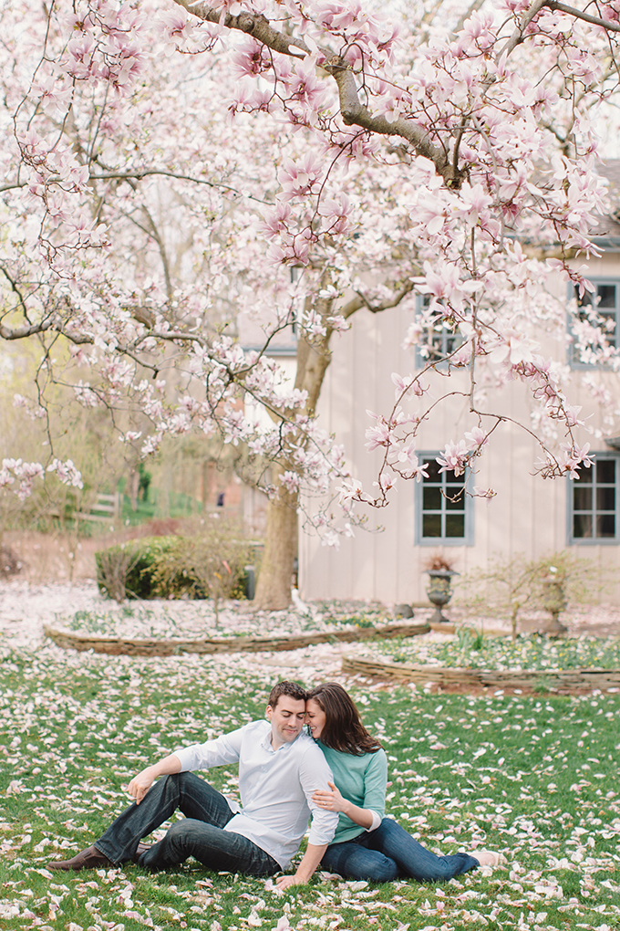 cherry blossom engagement | Vanessa Joy Photography | Glamour & Grace