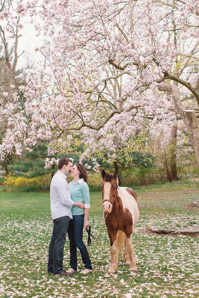 cherry blossom engagement | Vanessa Joy Photography | Glamour & Grace