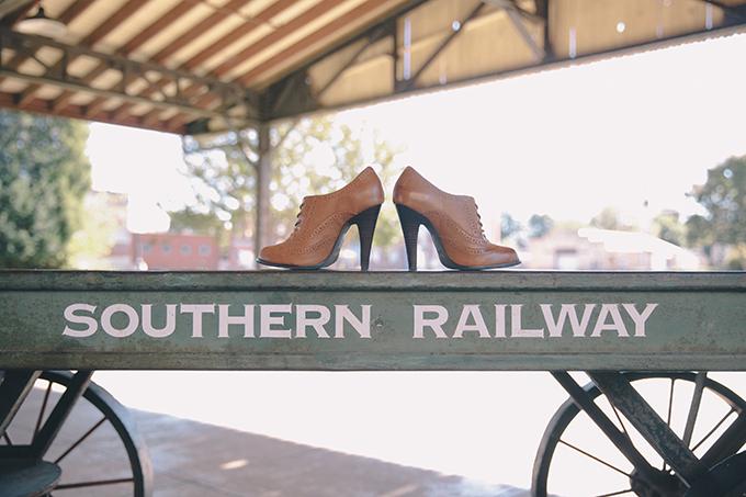 handmade train station wedding   Sara Bee Photography   Glamour & Grace