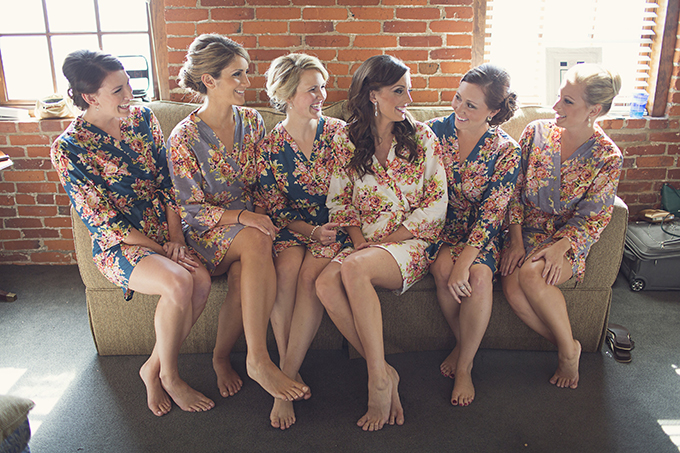 bridesmaids in robes | Brooke Courtney Photography | Glamour & Grace