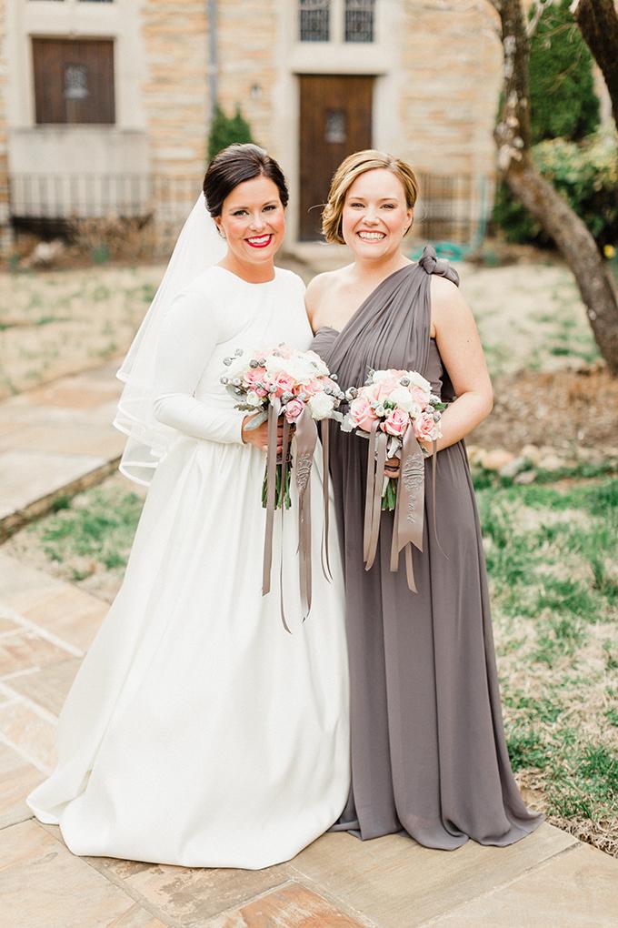 gray bridesmaid dress | JoPhoto | Glamour & Grace
