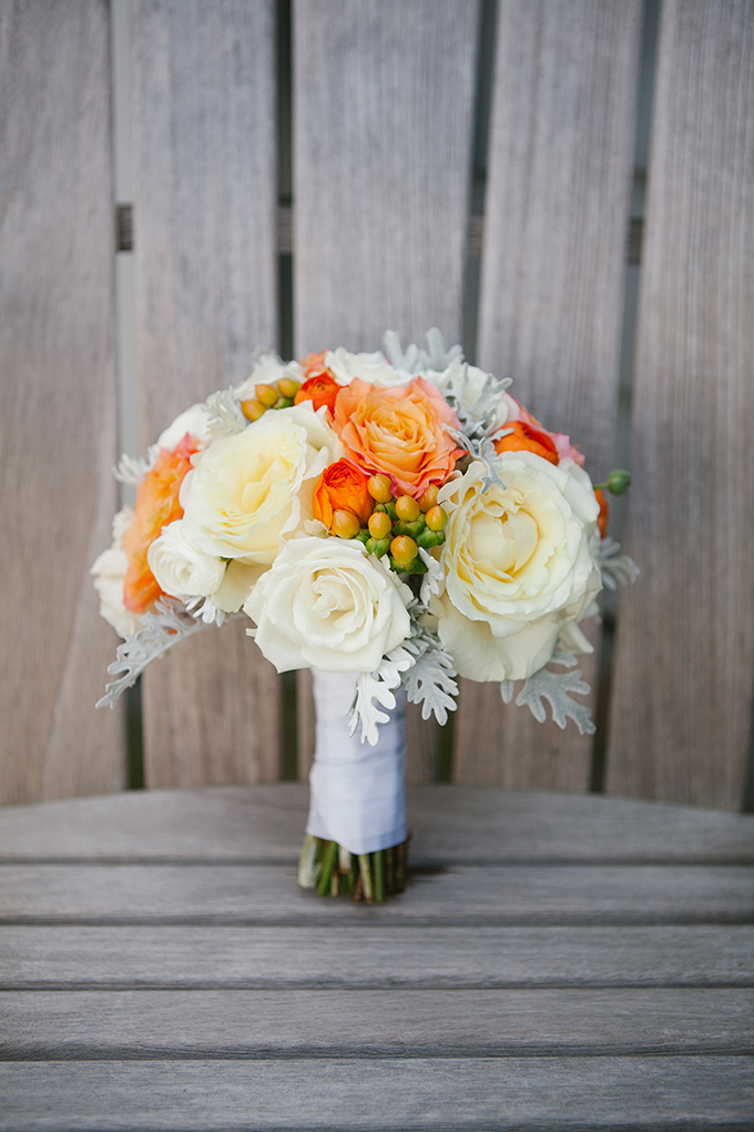 orange bouquet | Kristin Moore Photo | Glamour & Grace