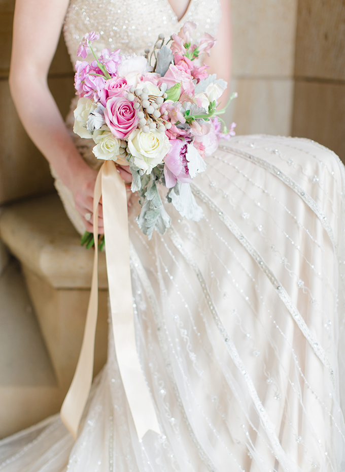 pink and white bouquet | David Abel Photography | Glamour & Grace