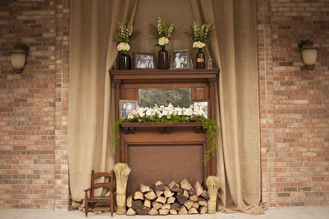 fireplace altar | Stephanie A Smith Photography | Glamour & Grace