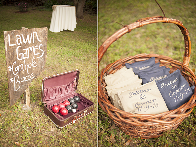 lawn games | Stephanie A Smith Photography | Glamour & Grace