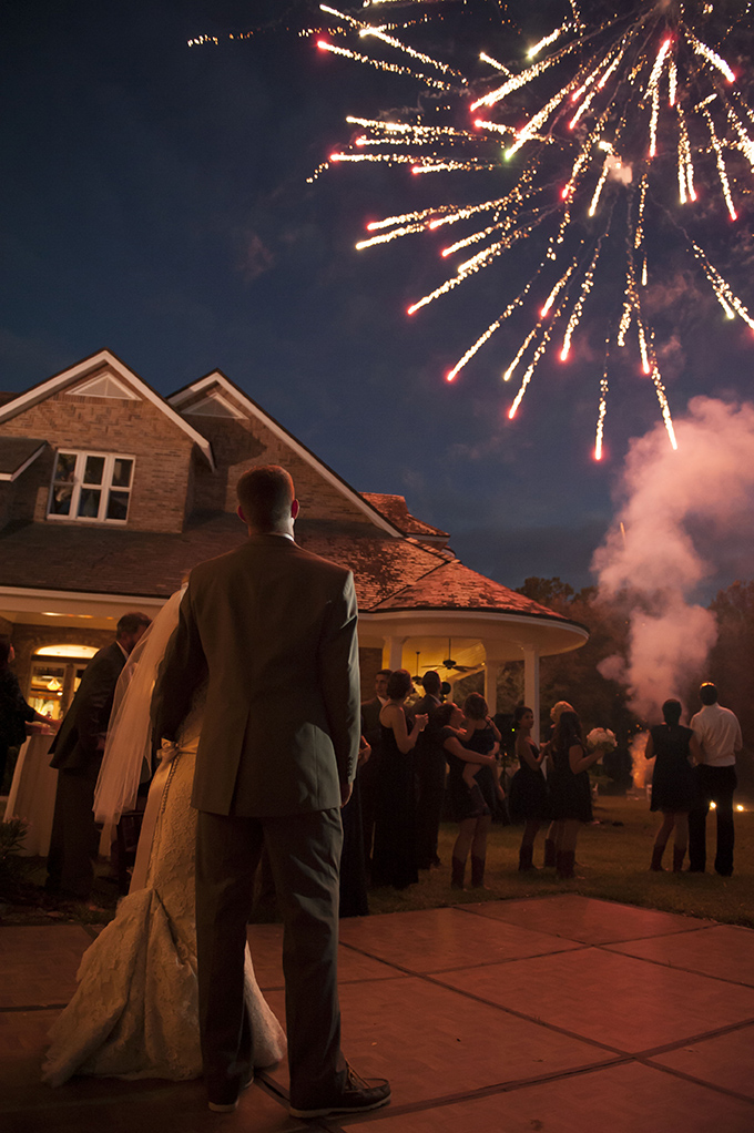 end of the night fireworks | Stephanie A Smith Photography | Glamour & Grace