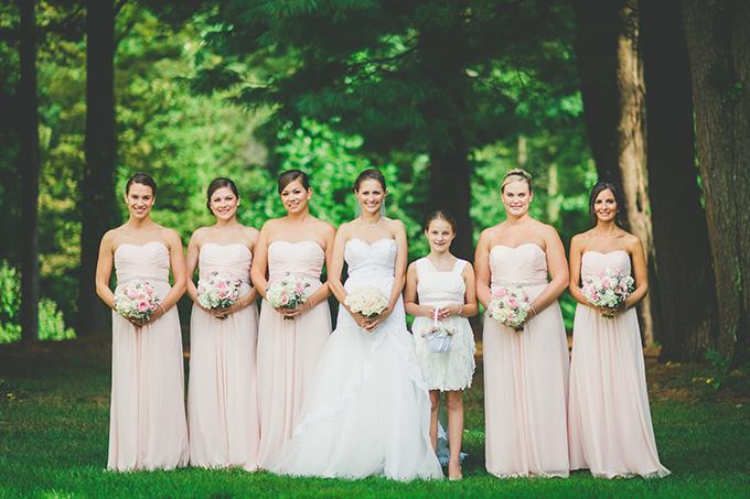 blush bridesmaids | VO Photographers | Glamour & Grace