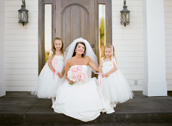 bride with flower girls | Pure 7 Studios | Glamour & Grace