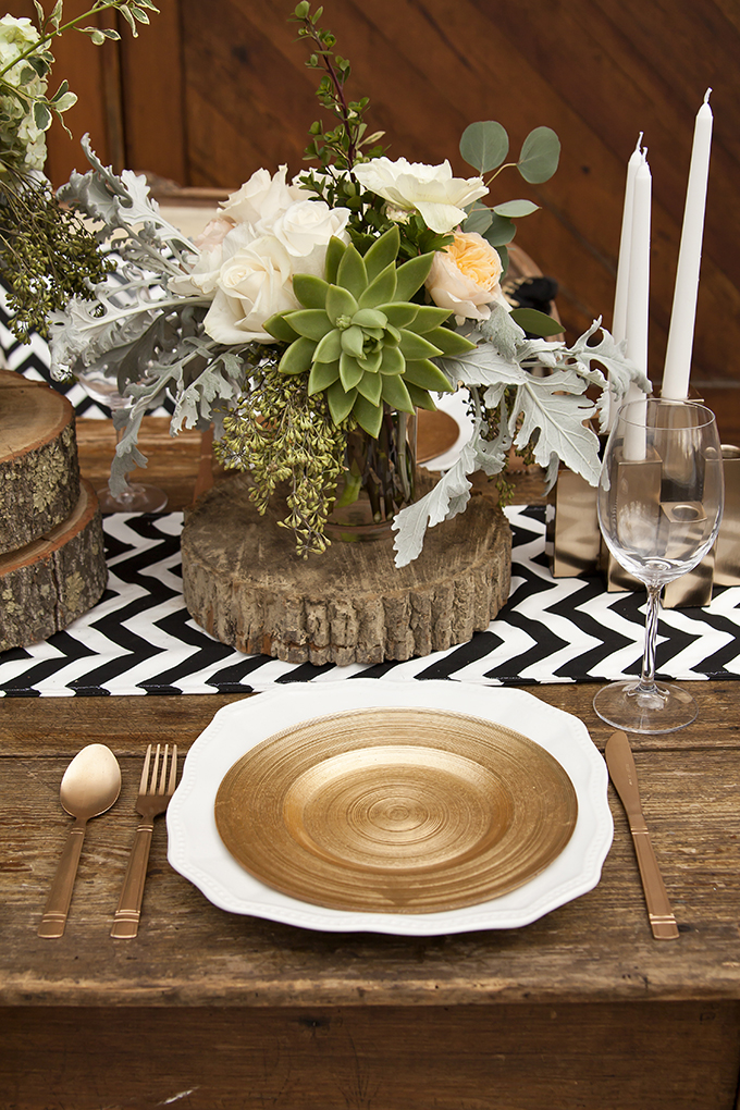 romantic rustic place setting | Candice Patrice Photography | Glamour & Grace
