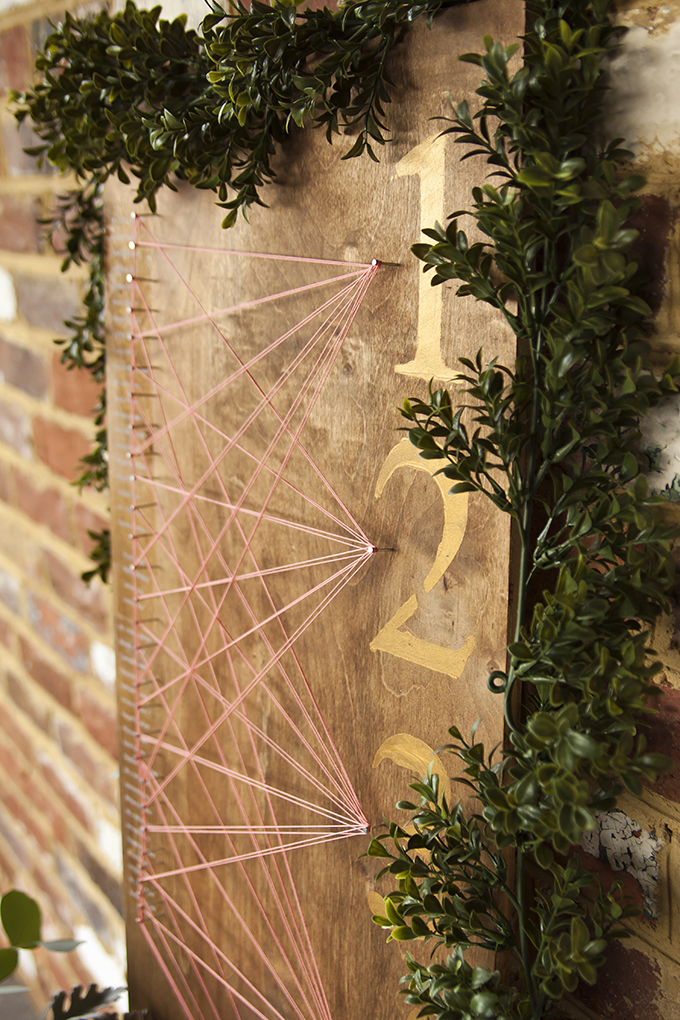 string art seating chart | Candice Patrice Photography | Glamour & Grace