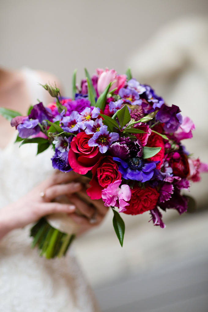 magenta and purple bouquet | Asya Photography | Glamour & Grace