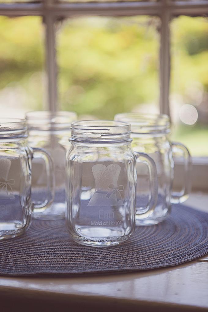 custom mason jar mugs | Brigham & Co. | Glamour & Grace