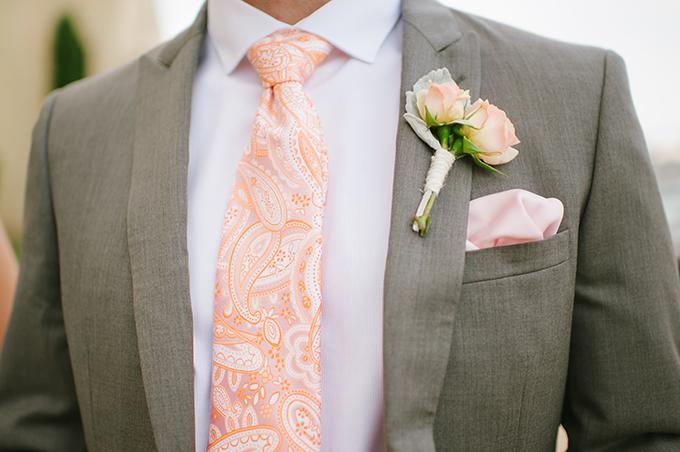 blush & peach groom | Candi Coffman Photography | Glamour & Grace
