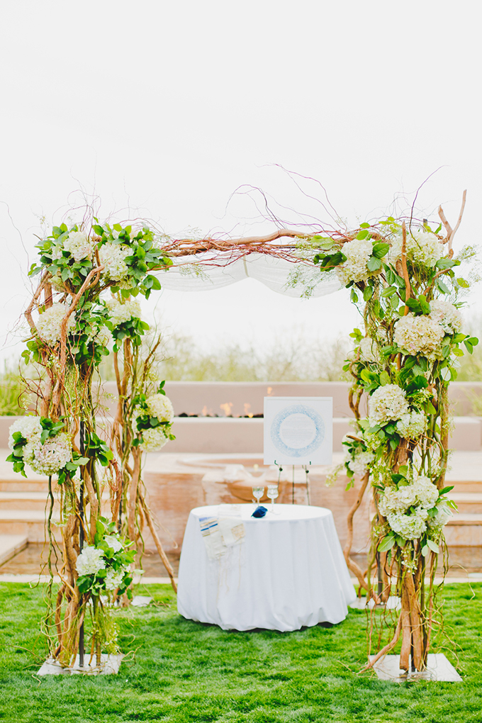 floral chuppah | Elyse Hall Photography | Glamour & Grace