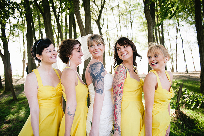 yellow bridesmaids | Meredith McKee Photography | Glamour & Grace