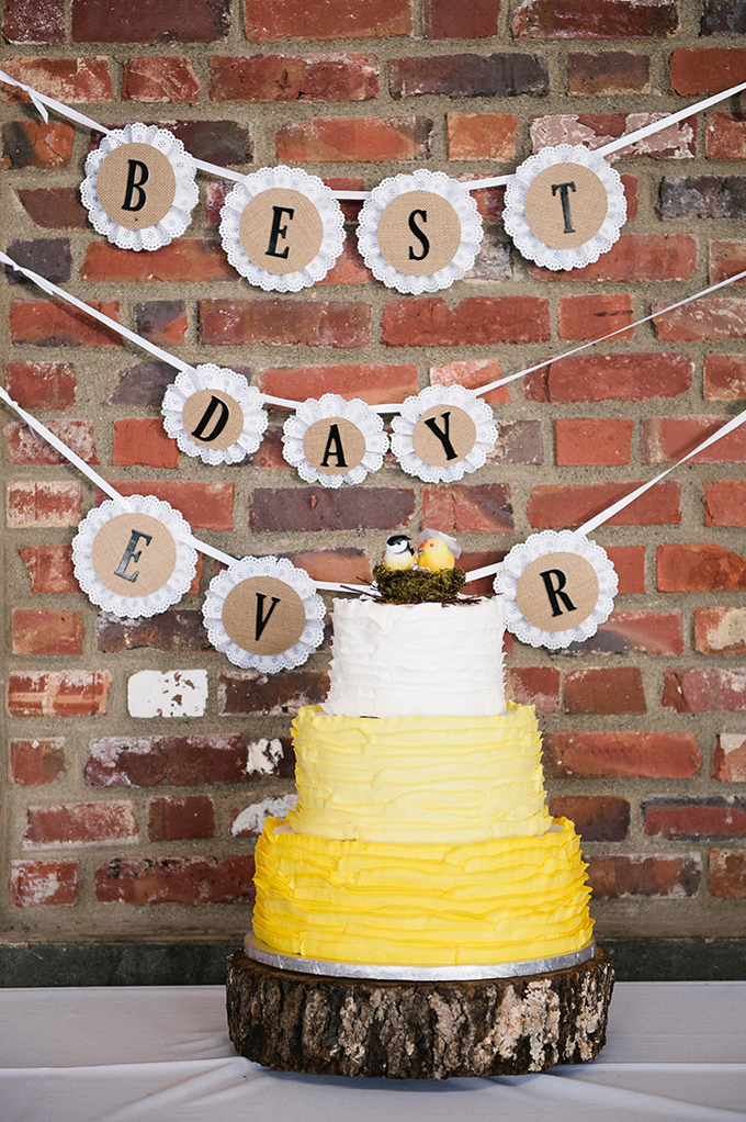 yellow ruffle cake| Meredith McKee Photography | Glamour & Grace