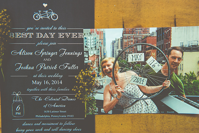 bike themed invitations | BG Productions Photography | Glamour & Grace