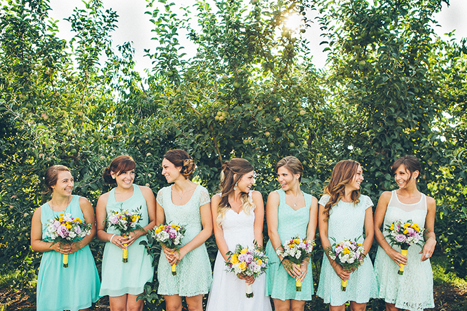 mint bridesmaids | High Five For Love Photography | Glamour & Grace