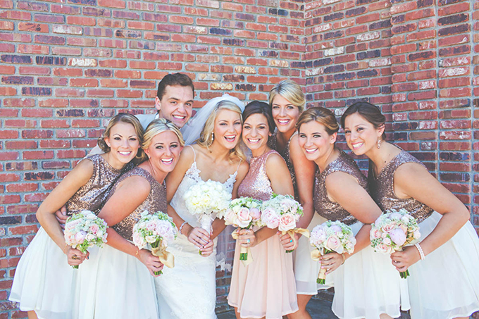 sequin bridesmaids | Lindsey Gomes Photography | Glamour & Grace