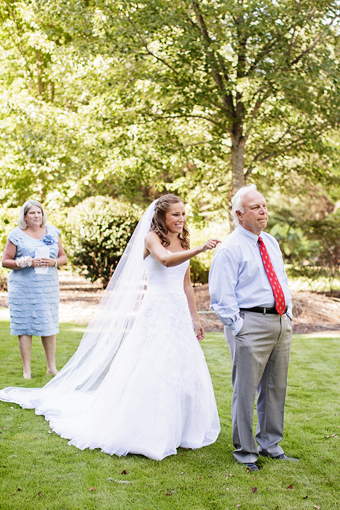 father first look | Robyn Van Dyke Photography | Glamour & Grace