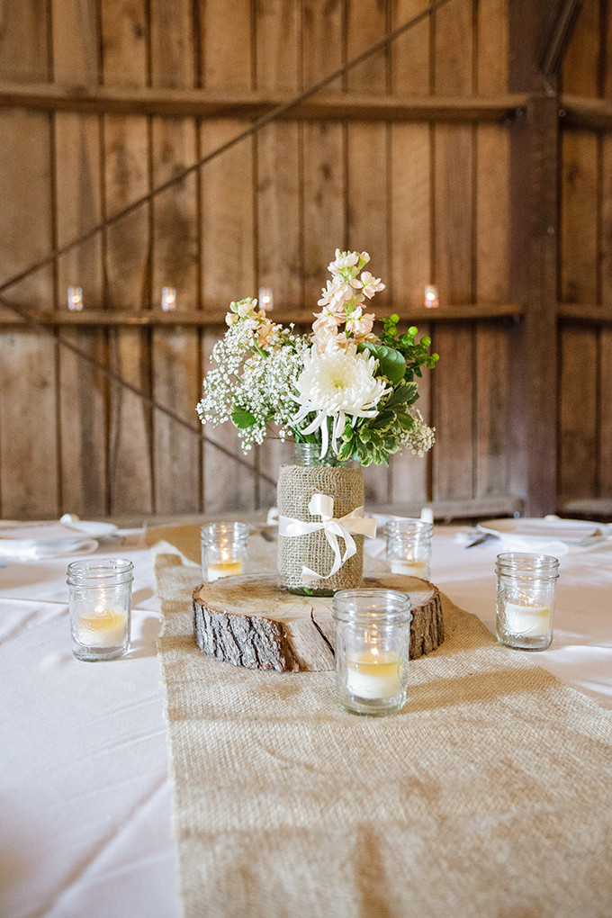 rustic centerpiece | Robyn Van Dyke Photography | Glamour & Grace