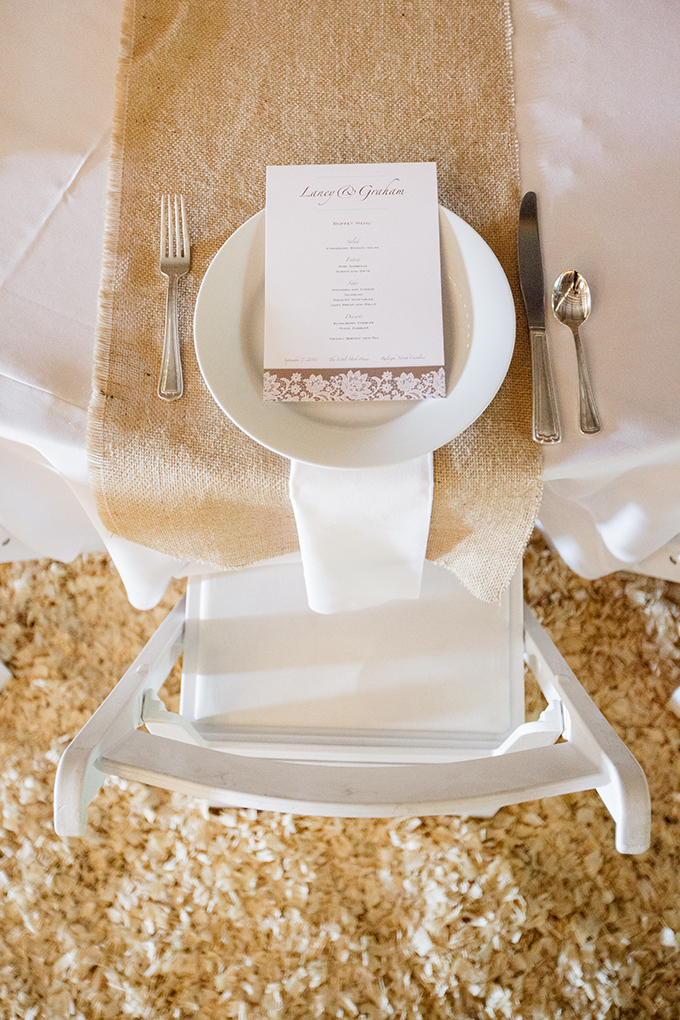 rustic place setting | Robyn Van Dyke Photography | Glamour & Grace