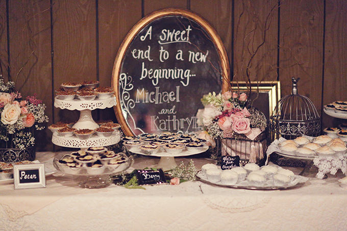 dessert table | Lukas & Suzy VanDyke | Glamour & Grace