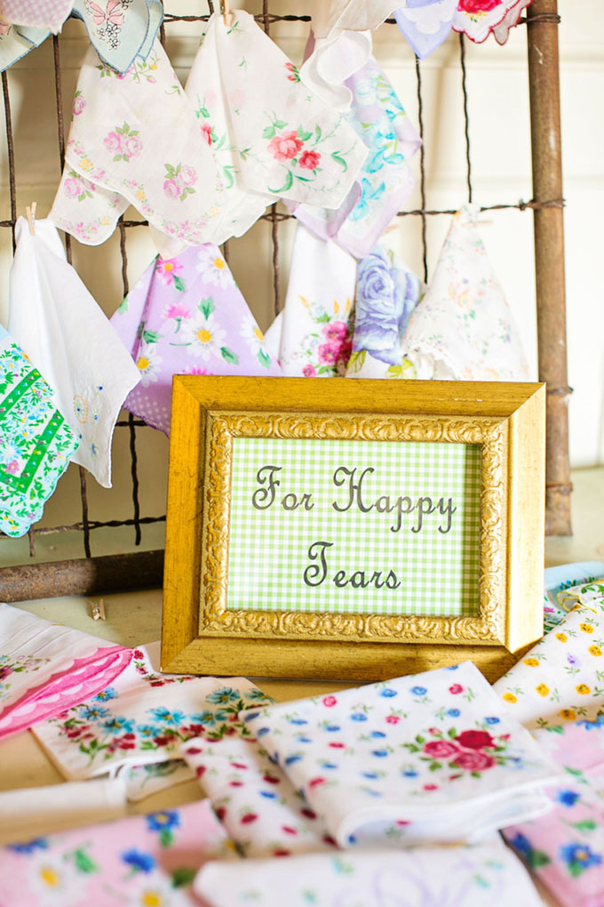 hankies for happy tears | Macon Photography | Glamour & Grace