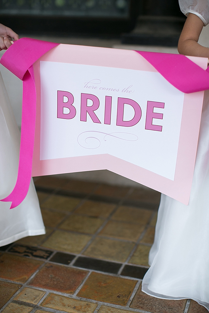 here comes the bride sign | Christy Tyler Photography | Glamour & Grace
