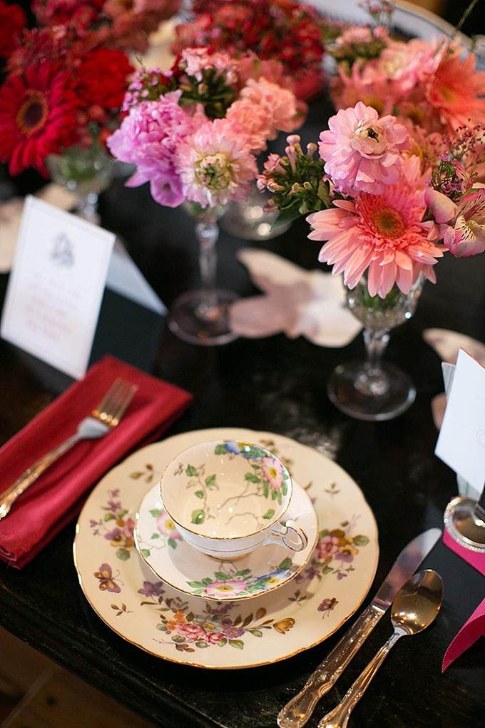 vintage tea party place setting | Christy Tyler Photography | Glamour & Grace