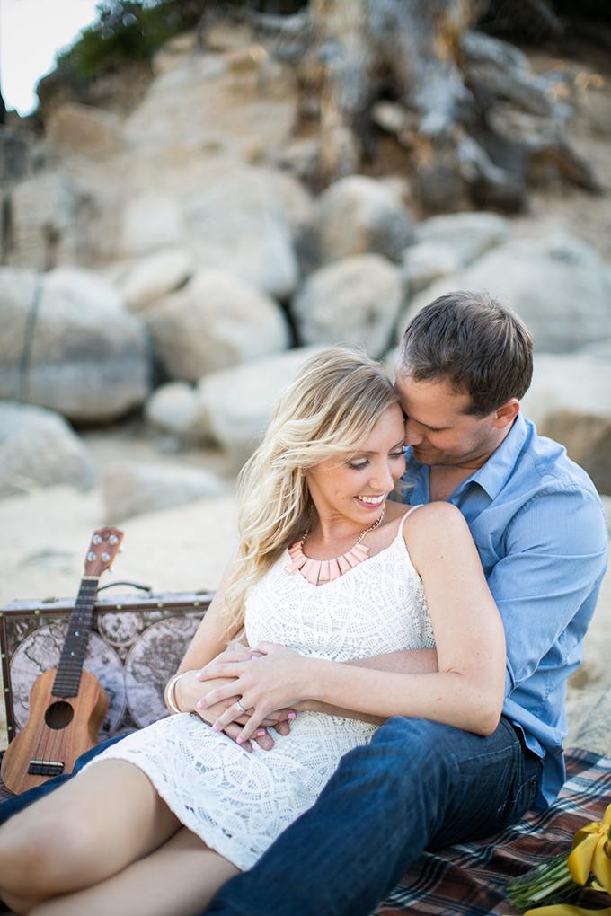 Lake Tahoe picnic engagement   Ryan Greenleaf Photography   Glamour & Grace