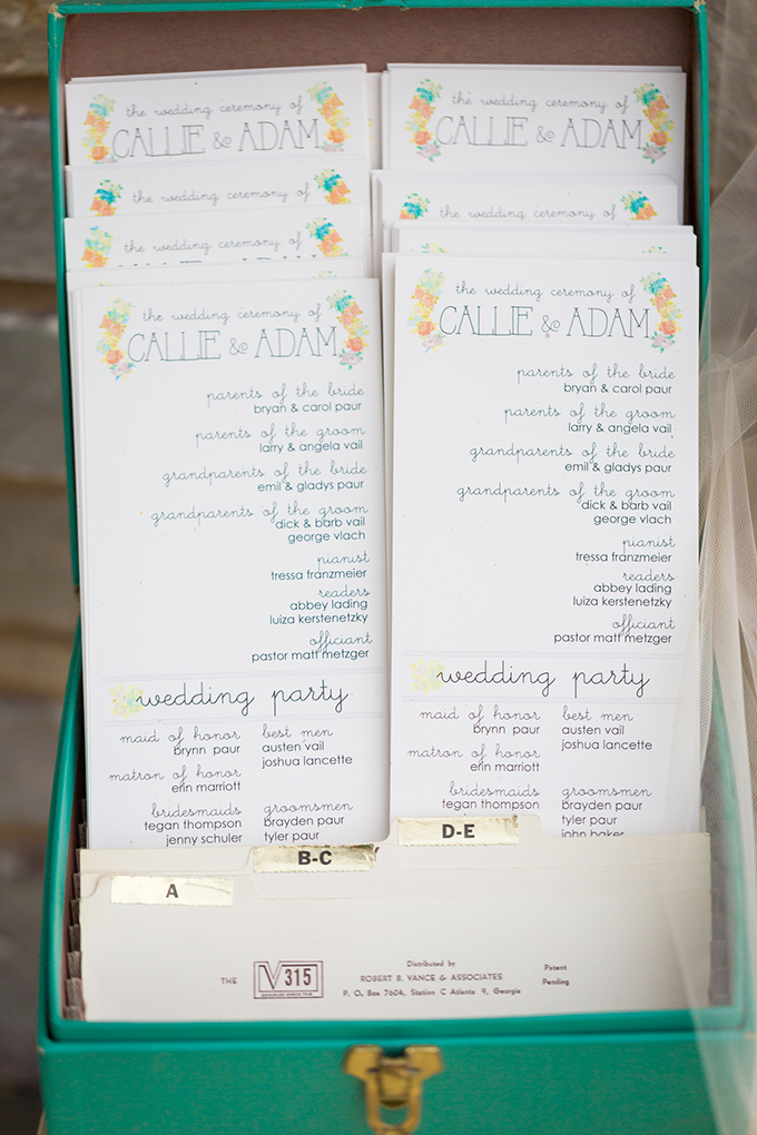 wedding programs | Maison Meredith Photography | Glamour & Grace