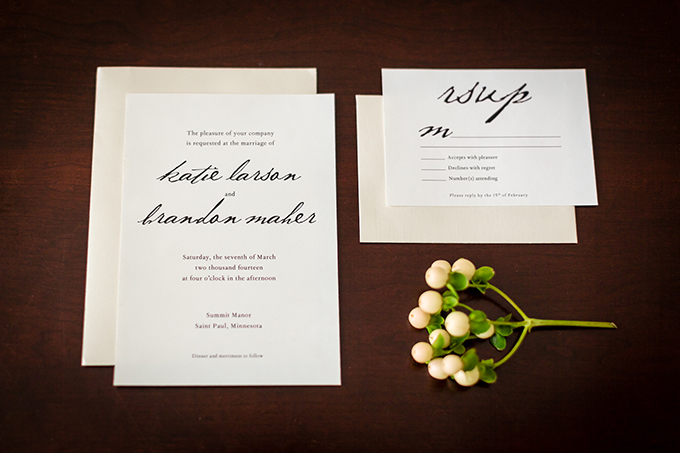 classic invitation | Carina Photographics | Glamour & Grace