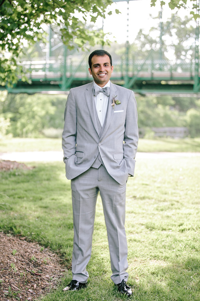 light gray suit groom | Tamara Lockwood Photography | Glamour & Grace