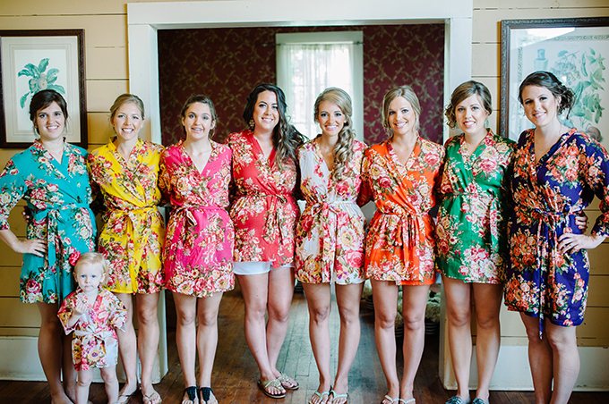 bridesmaids in robes | Tracy Enoch Photography | Glamour & Grace