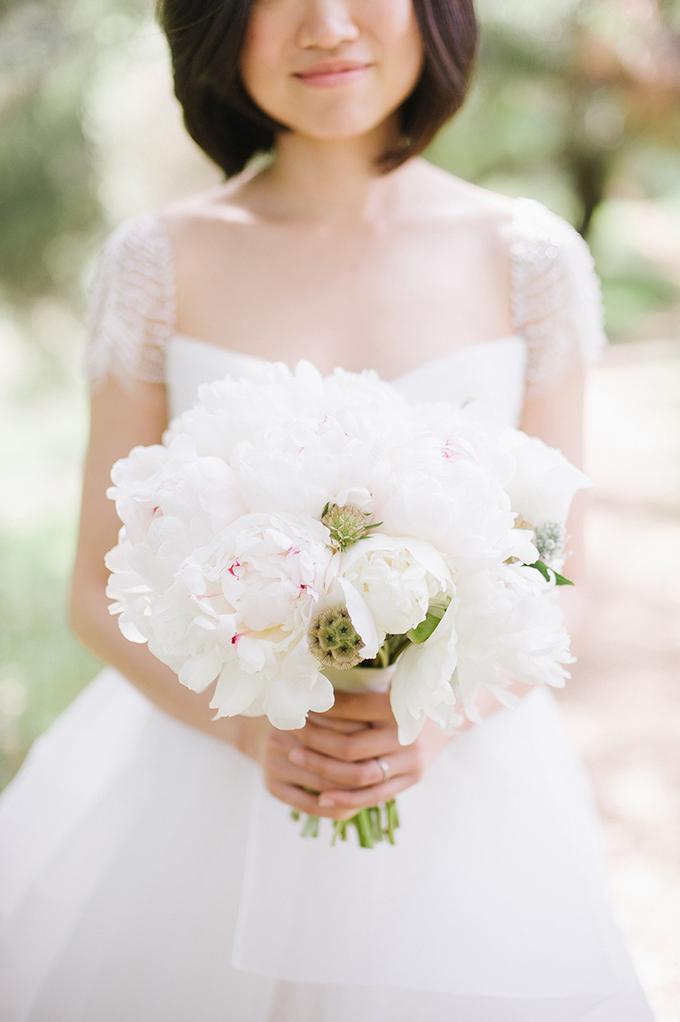 white peony bouquet | Melissa Gidney Photography | Glamour & Grace