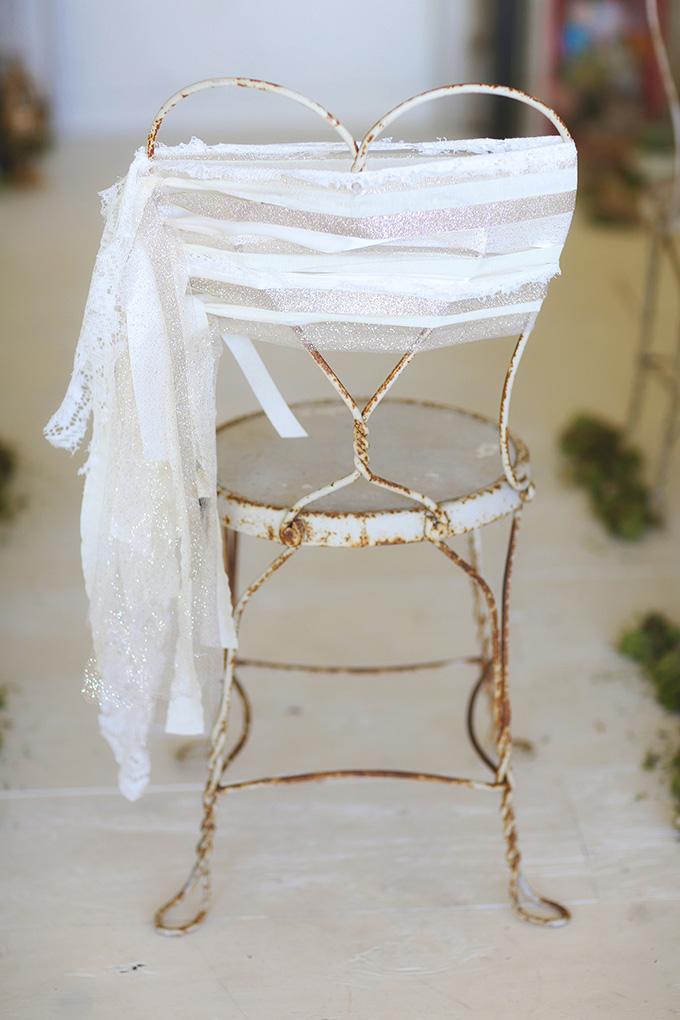chair ribbons   Melissa Enid Photography   Glamour & Grace
