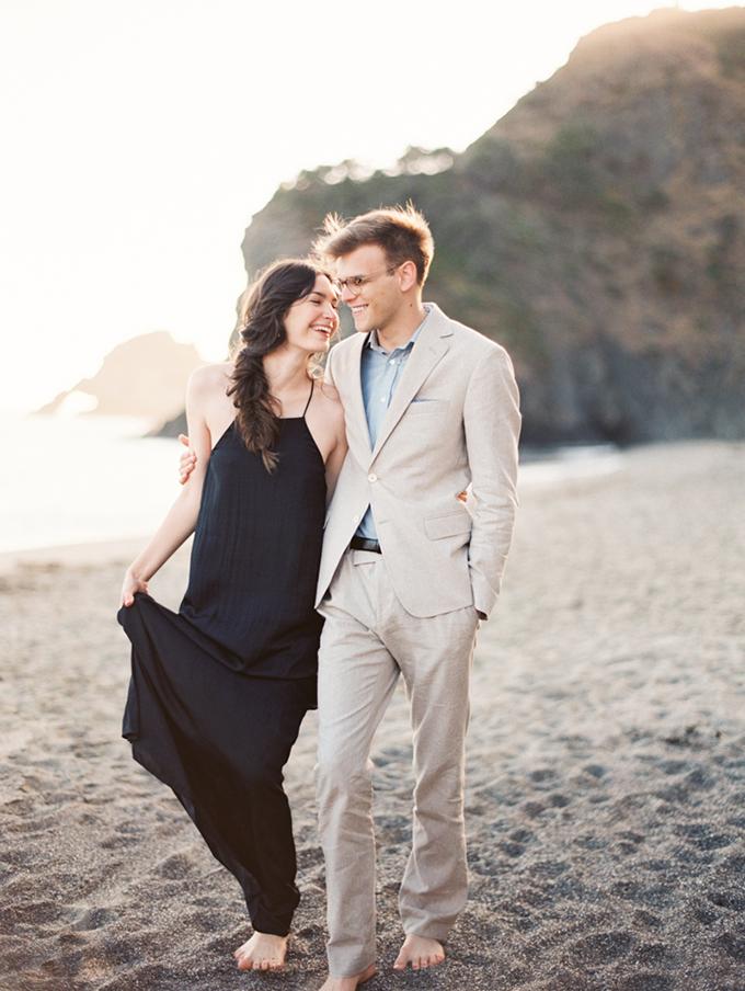 California seaside engagement | Kylie Martin | Glamour & Grace