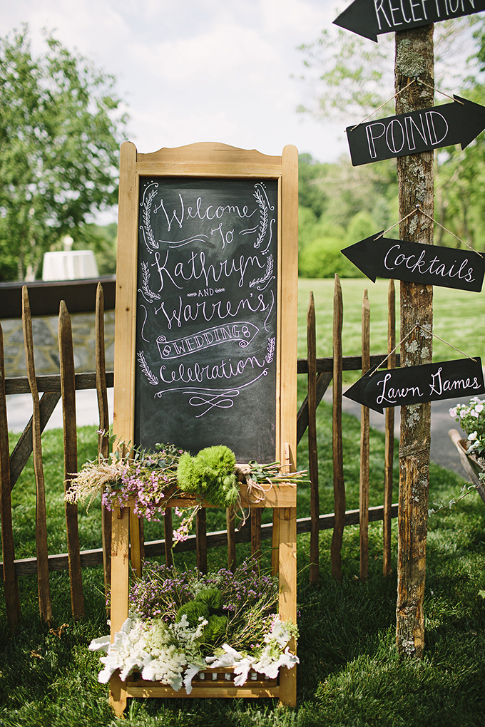 chalkboard signage | Brooke Courtney Photography | Glamour & Grace