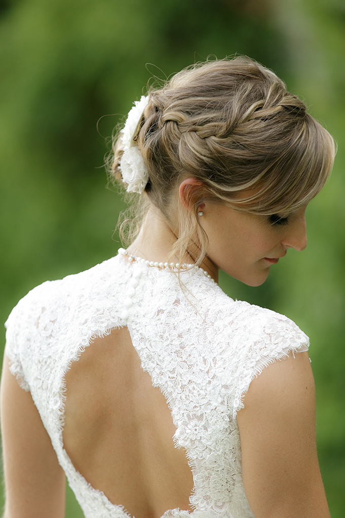 braided updo | Bumby Photography | see more on Glamour & Grace