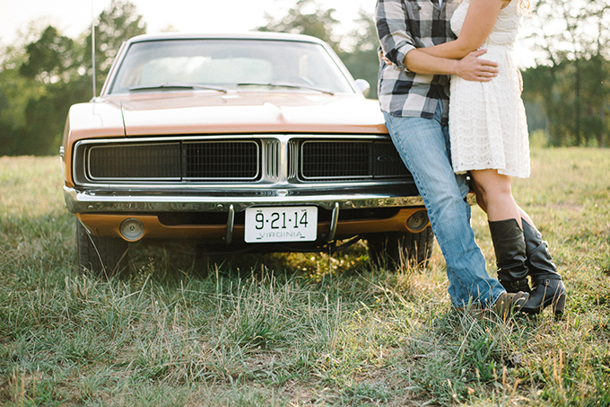 vintage Dodge Charger engagement | Andrea Pesce Photography | Glamour & Grace
