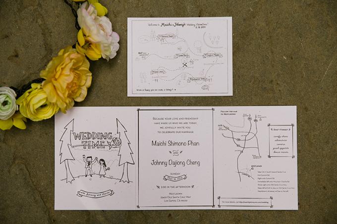 cute handmade invitations | Jasmine Lee Photography | Glamour & Grace