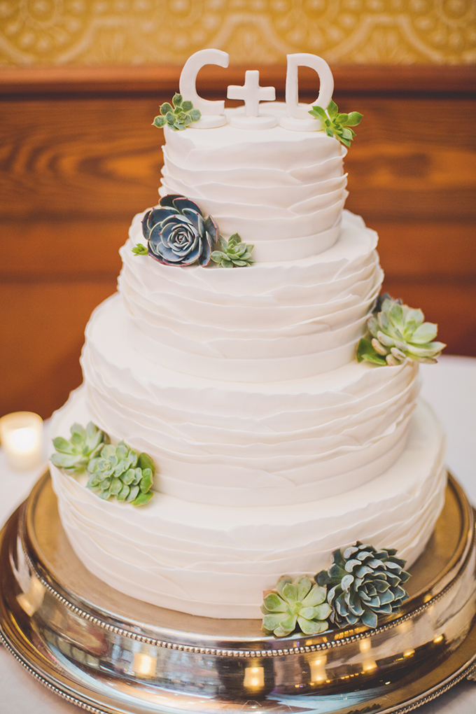 succulent cake | Elyse Hall Photography | Glamour & Grace